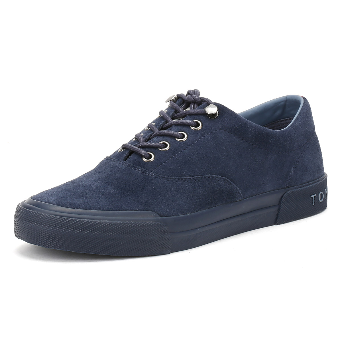 f8079e21a Details about Tommy Hilfiger Mens Navy Blue Suede Trainers Lace Up Sport  Shoes Y2285ARMOUTH