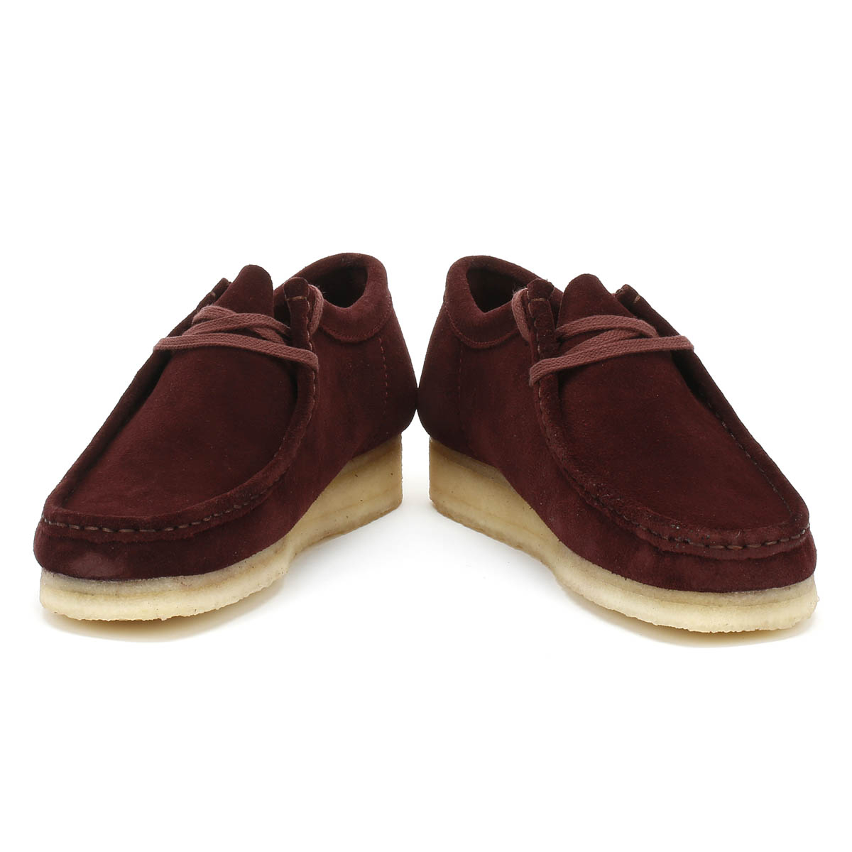 43567b685 Clarks Originals Mens Shoes Wallabee Burgundy Red Lace Up Suede ...