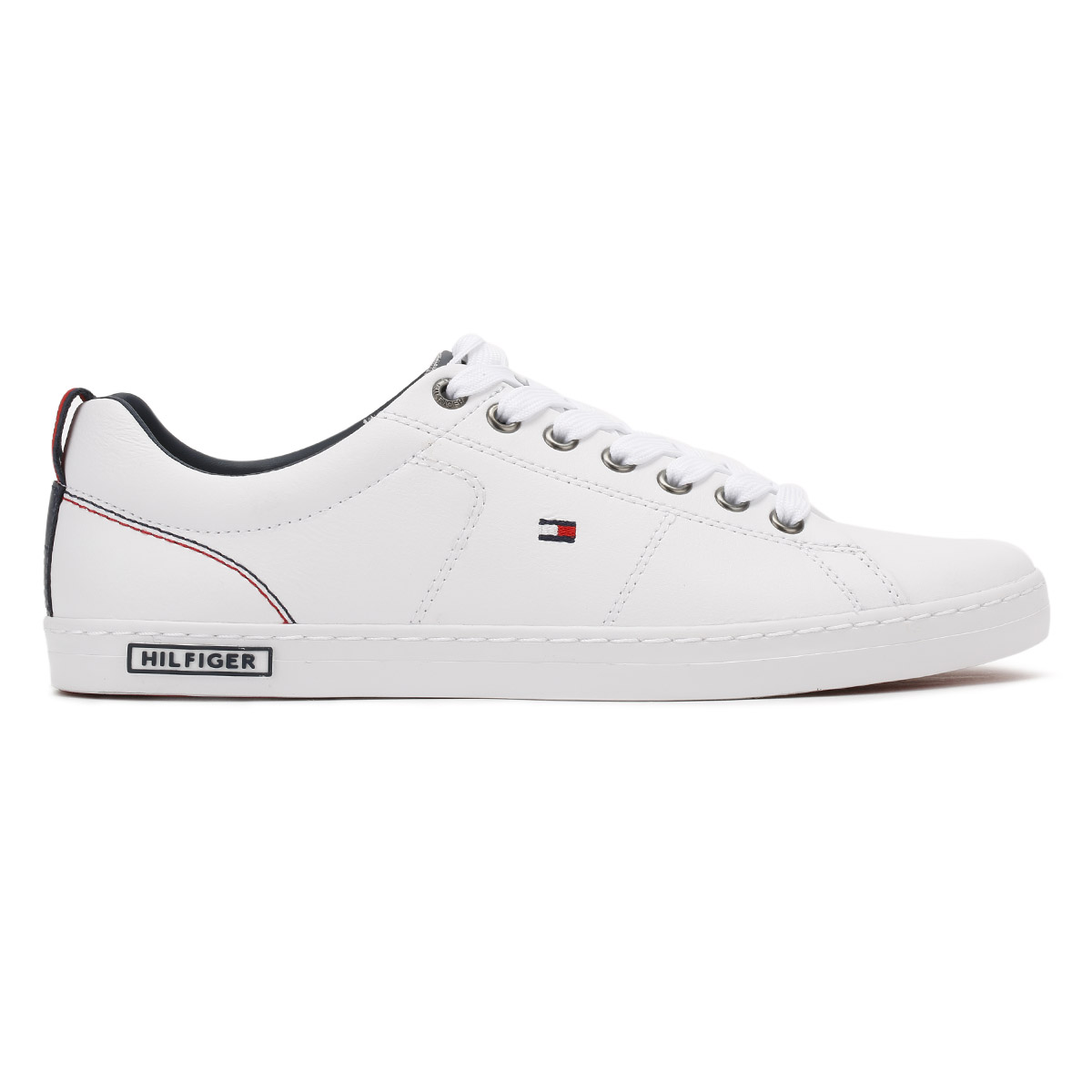 Tommy hilfiger mens white trainers lace up sport casual leather tommy hilfiger mens white trainers lace up sport publicscrutiny Choice Image