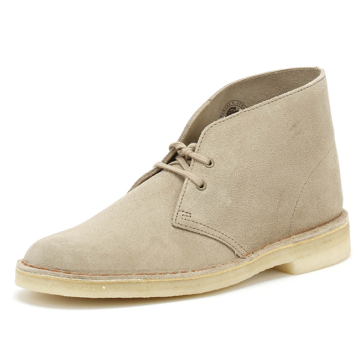 Clarks    Herren Desert Stiefel Sand Beige Suede Lace Up Casual Ankle Schuhes c4db9e