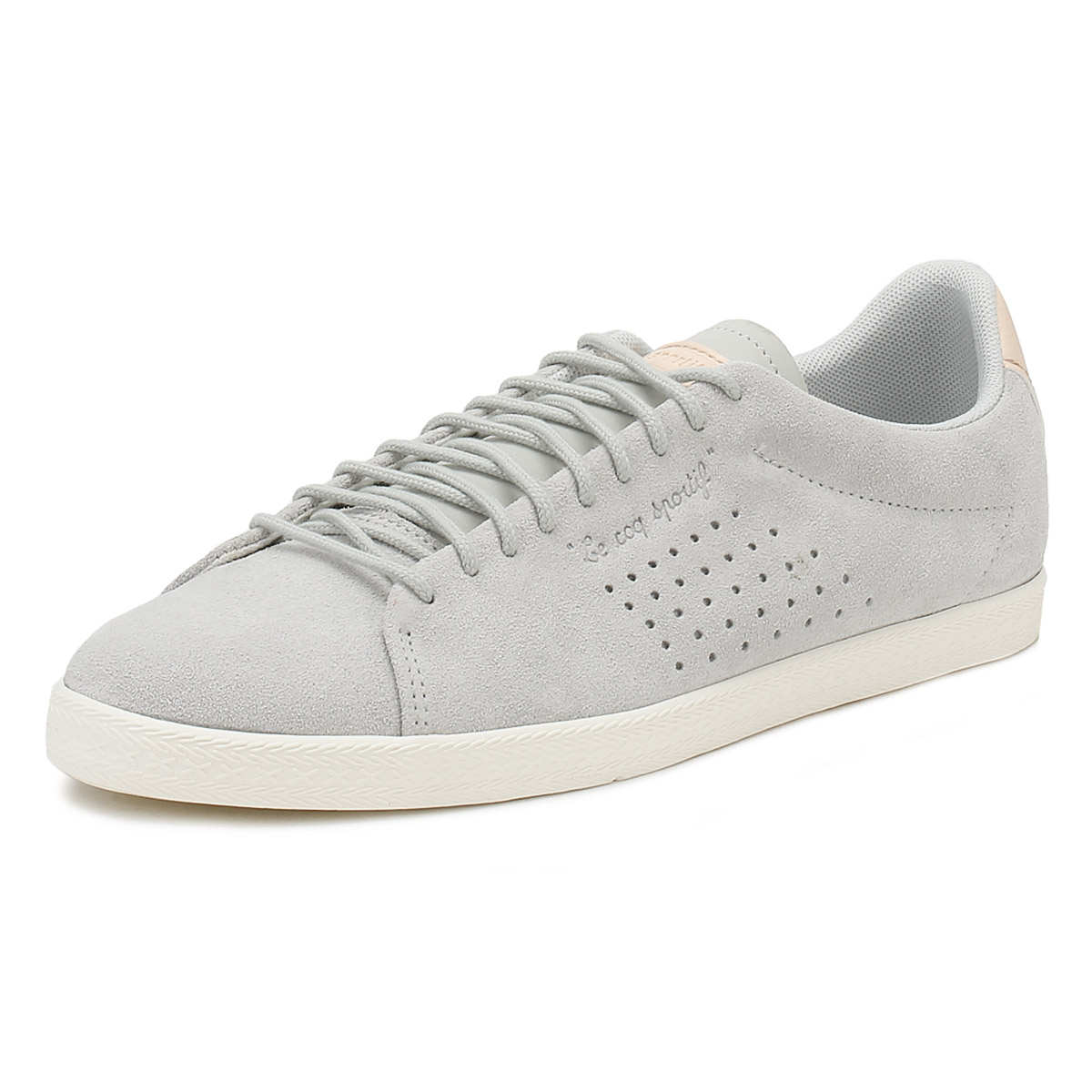 f18681b6e5a6 Details about Le Coq Sportif Womens Trainers Galet Grey Charline Lace Up  Casual Shoes
