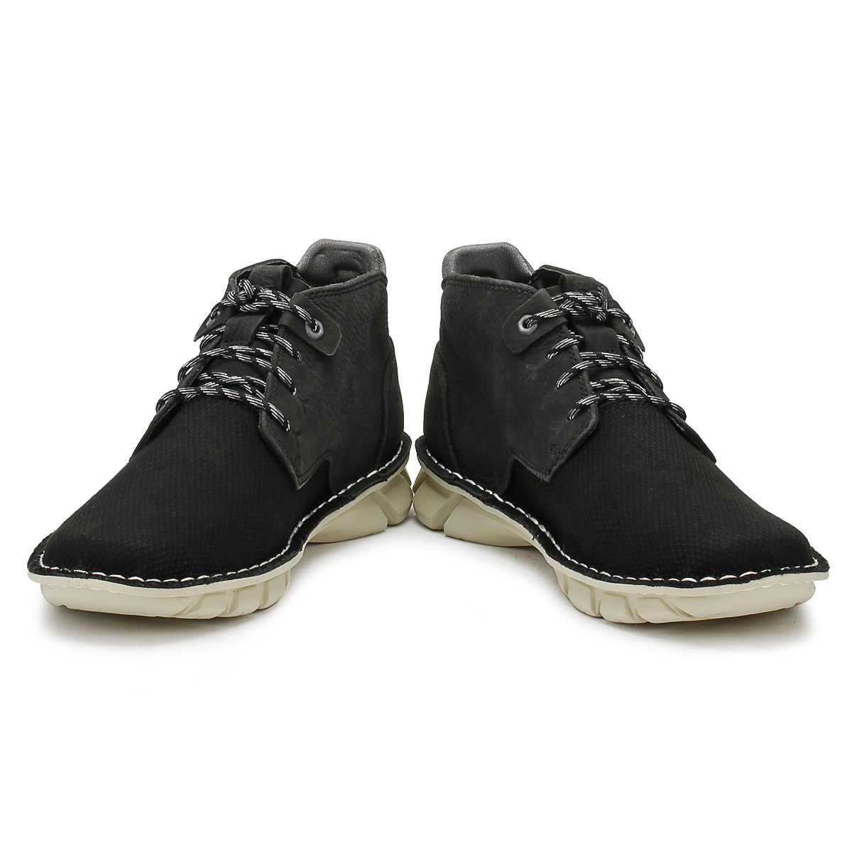 Caterpillar Mens Canvas Boots Black Almanac Lace Up Ankle Shoes