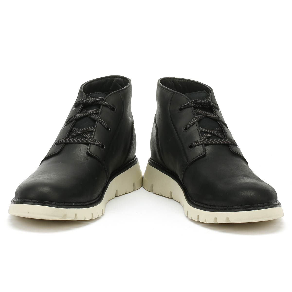 Caterpillar Sidcup Mens Chukka Boots Black Leather Lace Up