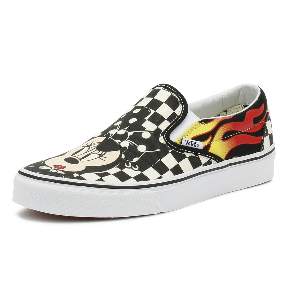 b859072c98 Details about Vans Disney Unisex Trainers Mickey   Minnie Checker Flame  Sport Skate Shoes