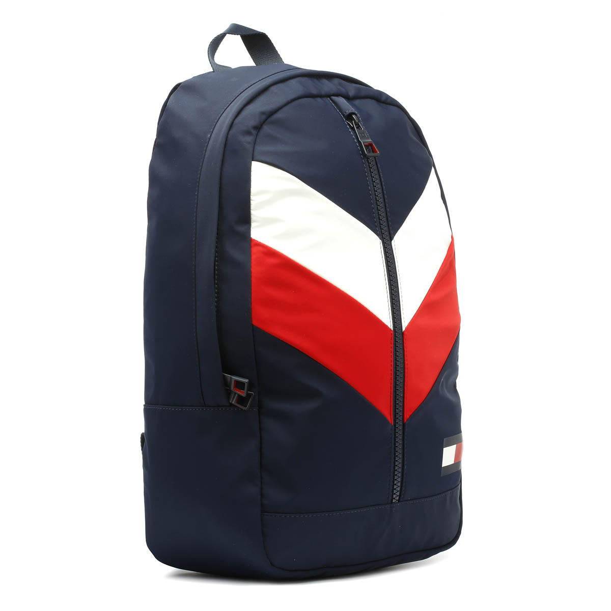 Tommy Hilfiger Chevron Corporate Navy Backpack Travel Unisex Bag ... 556afe8b51e99