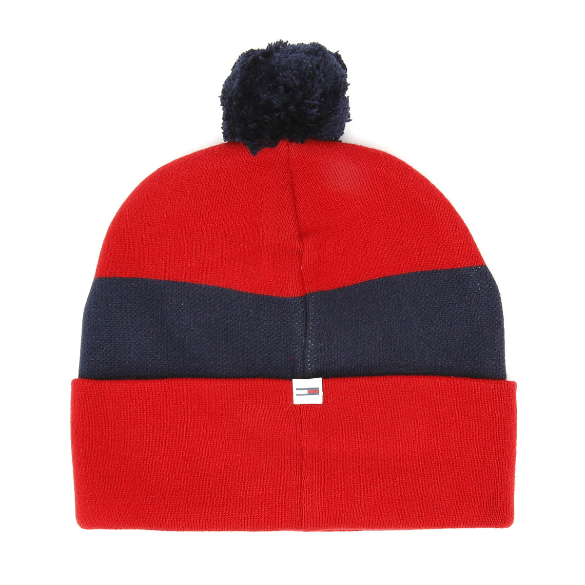 Tommy Hilfiger Rugby Stripe Corporate Red Beanie Unisex Warm Winter Knitted  Hat 999b8ac4201
