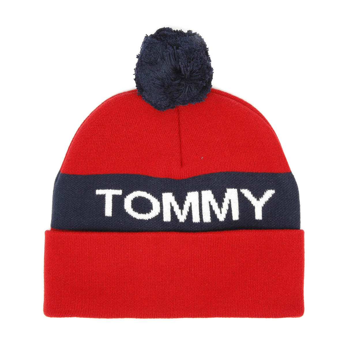 62b8c680809 Tommy Hilfiger Rugby Stripe Corporate Red Beanie Unisex Warm Winter Knitted  Hat