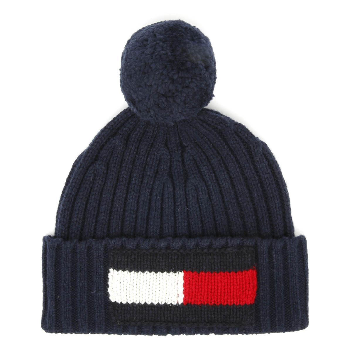 033f0c642dc Tommy Hilfiger Big Flag Navy Beanie Unisex Warm Winter Knitted Hat ...