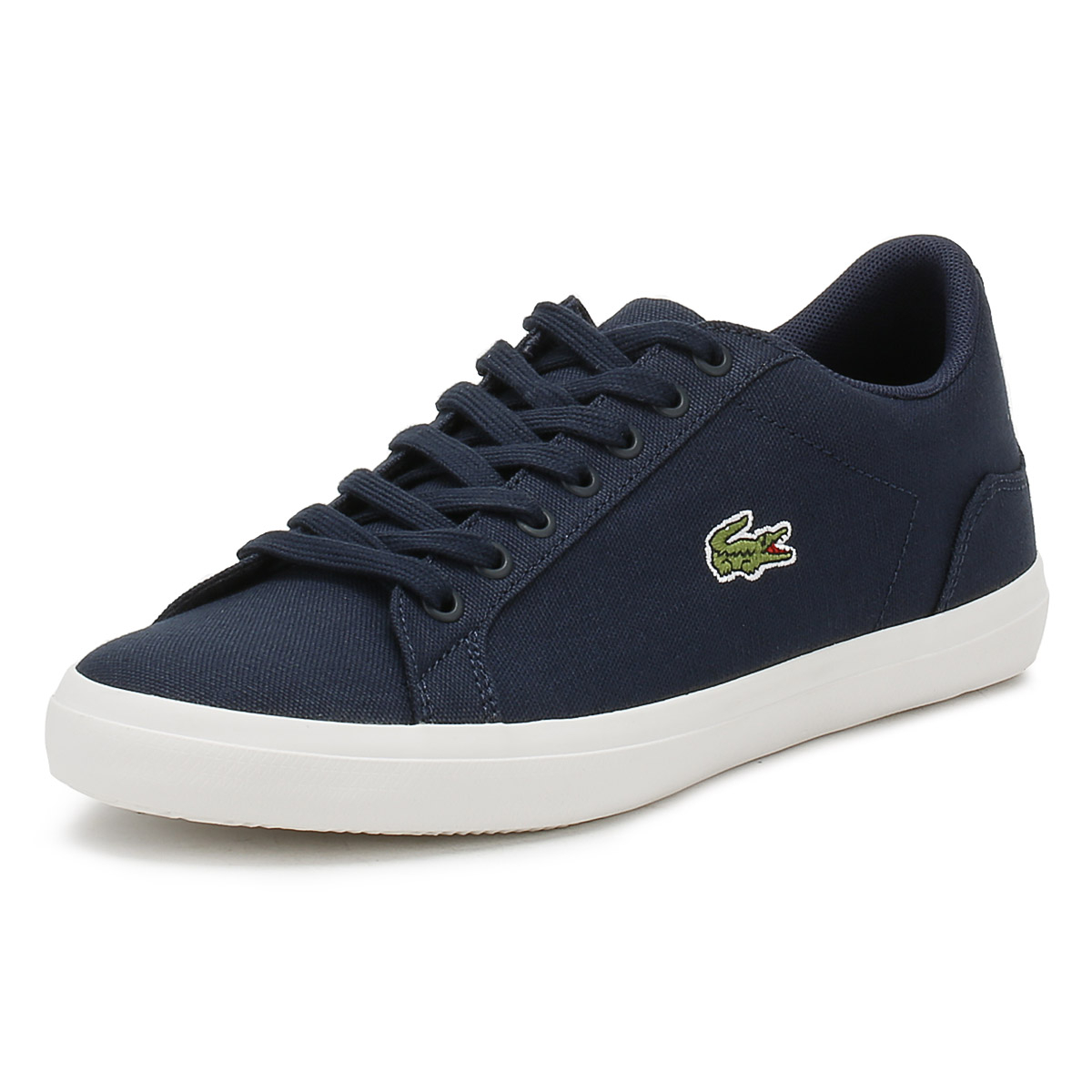 d972b2f59b8f Details about Lacoste Mens Trainers Navy Blue Lerond BL 2 CAM Sport Casual  Canvas Shoes