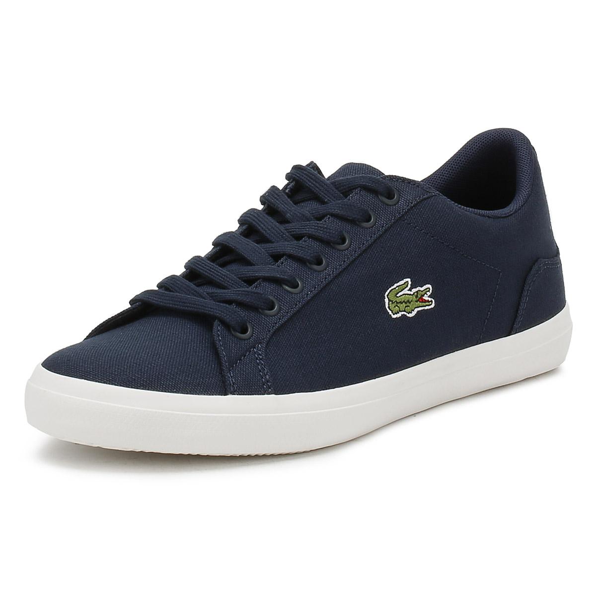 181cf8c374c97e Details about Lacoste Mens Trainers Navy Blue Lerond BL 2 CAM Sport Casual Canvas  Shoes
