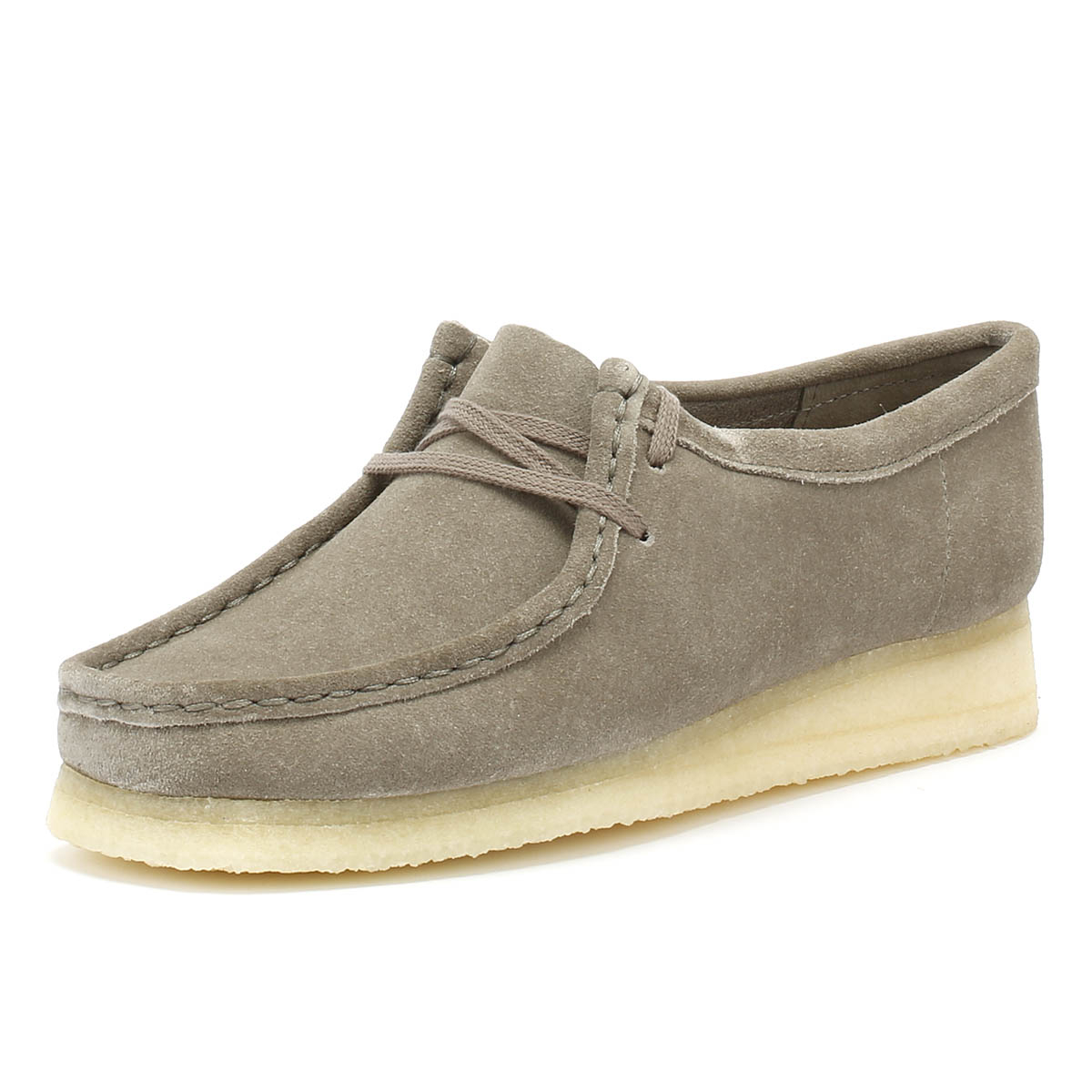 3f53d830 Details about Clarks Originals Womens Suede Shoes Grey Wallabee Premium  Casual