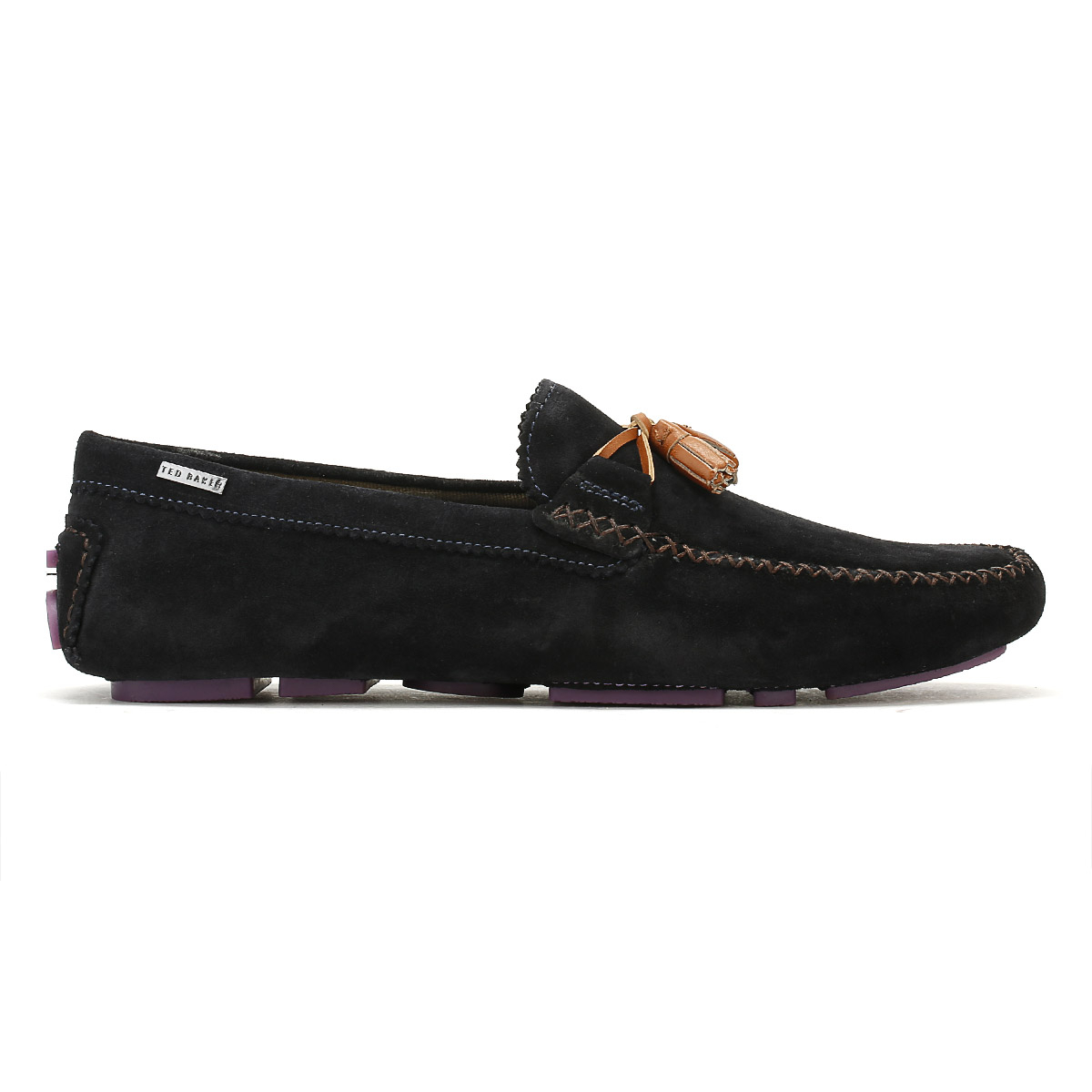 3ce4ff91c74 Ted Baker Mens Dark Blue Urbonn Suede Shoes Casual Moccasins Loafers ...