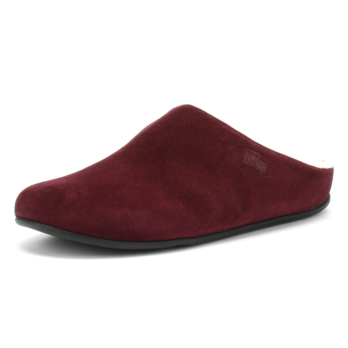 833998467 Details about FitFlop Chrissie Womens Shearling Berry Slippers Home Shoes