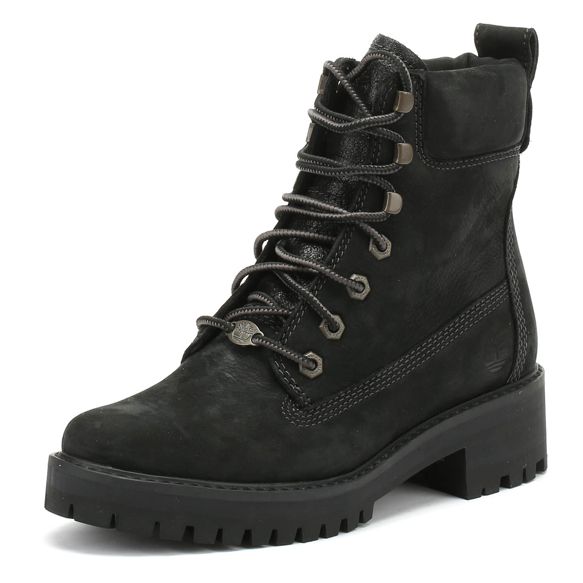 57af4979e112c Details about Timberland Womens Boots Black Courmayeur Valley Lace Up  Winter Ankle Shoes