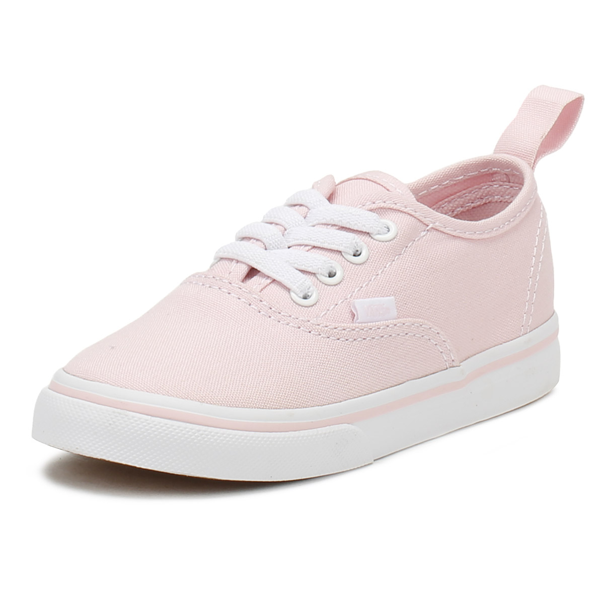 a3f7028281750 Vans Toddlers Trainers Chalk Pink & True White Authentic Kids Skate Shoes