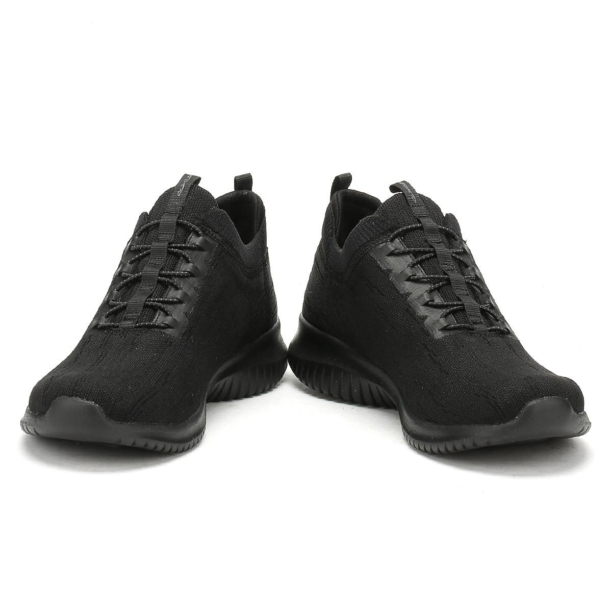 size 40 f63b4 ec04c ... Skechers Womens Entrenadores Negro Ultra Flex brillante horizonte  Señoras Zapatillas ...