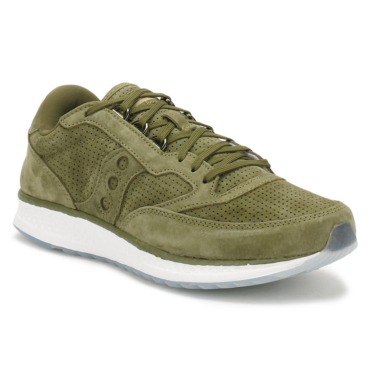 Saucony  Uomo Freedom Trainers Green or Tan Freedom Uomo Running Schuhes Sport Casual Lace Up edef23
