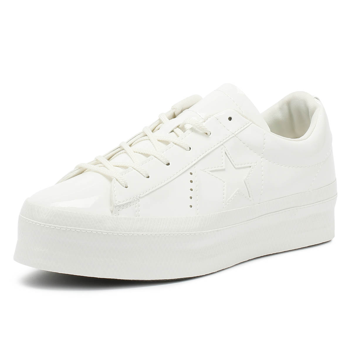 444b619e159 Details about Converse One Star Womens Trainers Vintage White Platform Ox  Lace Up Casual Shoes
