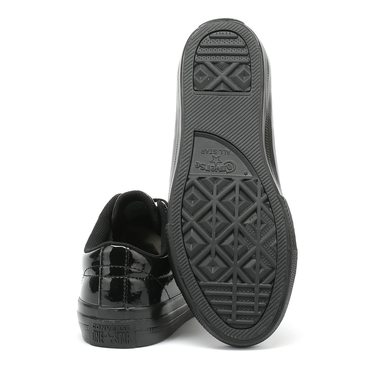 3c51b01caad4 Converse Kids Trainers One Star Ox Youth Black Lace Up Casual Shoes ...