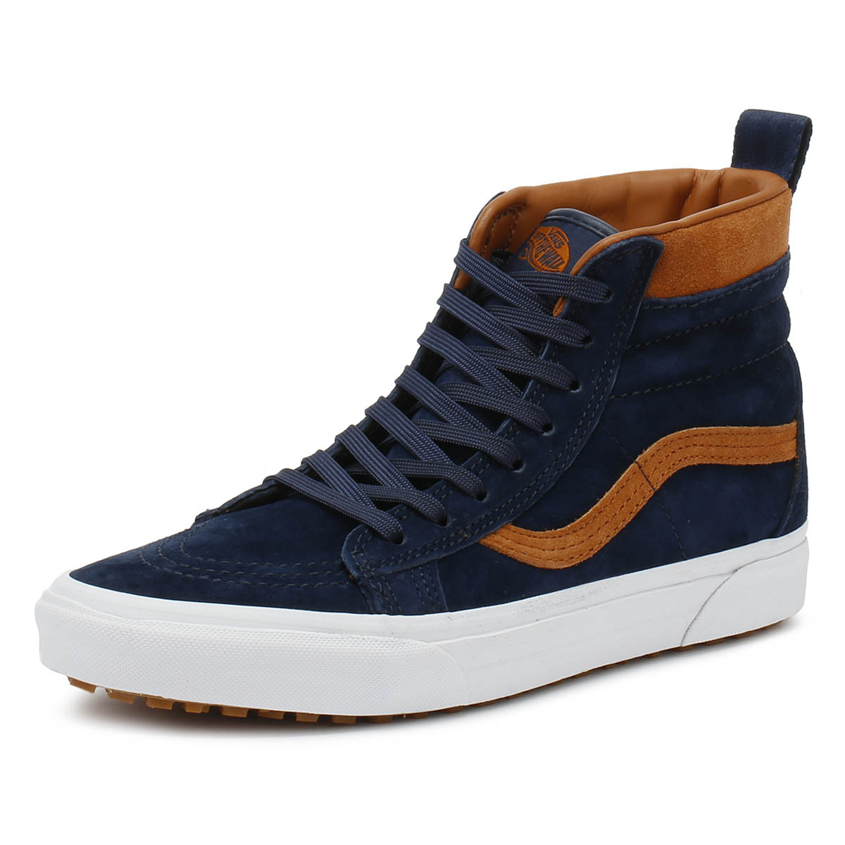 30ac31fdef Details about Vans Mens Trainers Suede   Dress Blue SK8-Hi MTE Casual Sport Skate  Shoes