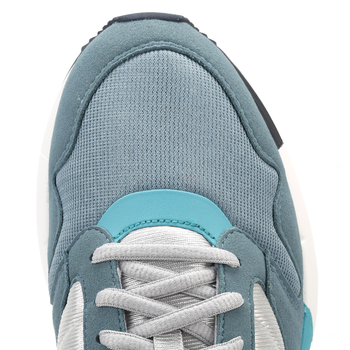 9a43f6c19744 Le Coq Sportif Womens Trainers Galet   Smoke Blue Omega X W Ladies Sport  Shoes