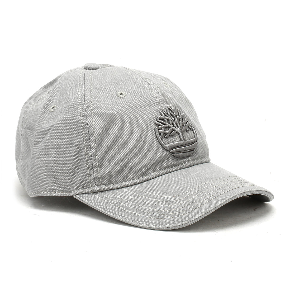 efce9b426 Details about Timberland Grey Canvas Baseball Cap Unisex Casual Hat