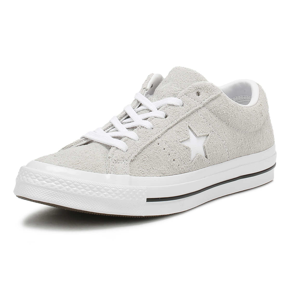 5bf3a0ccf5365f Details about Converse One Star Mens Ox Trainers Ash Grey Premium Suede  Lace Up Skate Shoes