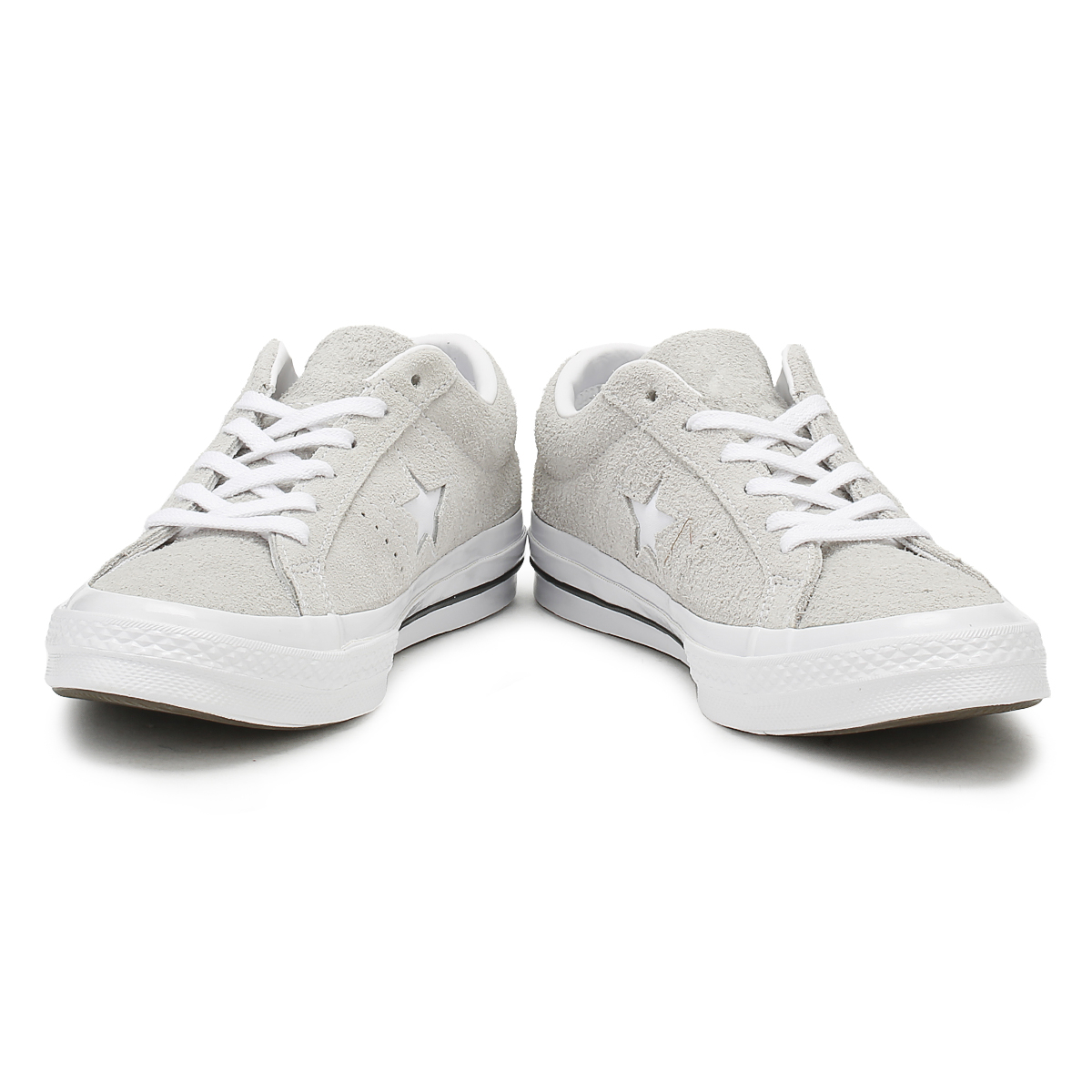 e19c2889abe Converse One Star Mens Ox Trainers Ash Grey Premium Suede Lace Up Skate  Shoes