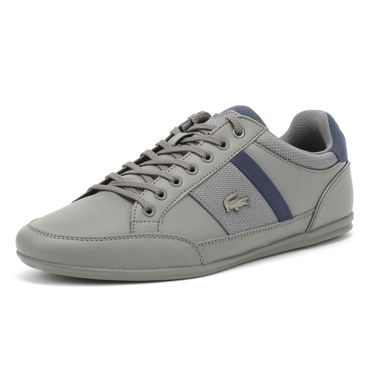 773a7462e Details about Lacoste Mens Trainers Chaymon 318 1 Dark Grey   Navy Sport  Casual Shoes