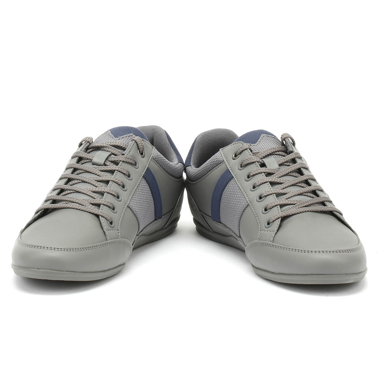 14e7f25ebc67 Lacoste Mens Trainers Chaymon 318 1 Dark Grey   Navy Sport Casual Shoes