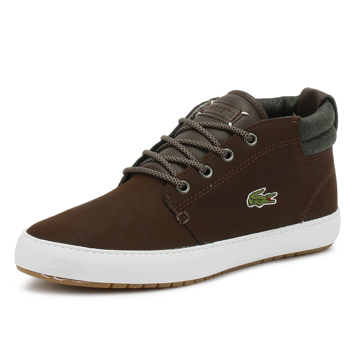 be01c5648a0d71 Lacoste Mens Trainers Ampthill Terra 318 1 Mens Dark Brown   Khaki Casual  Shoes