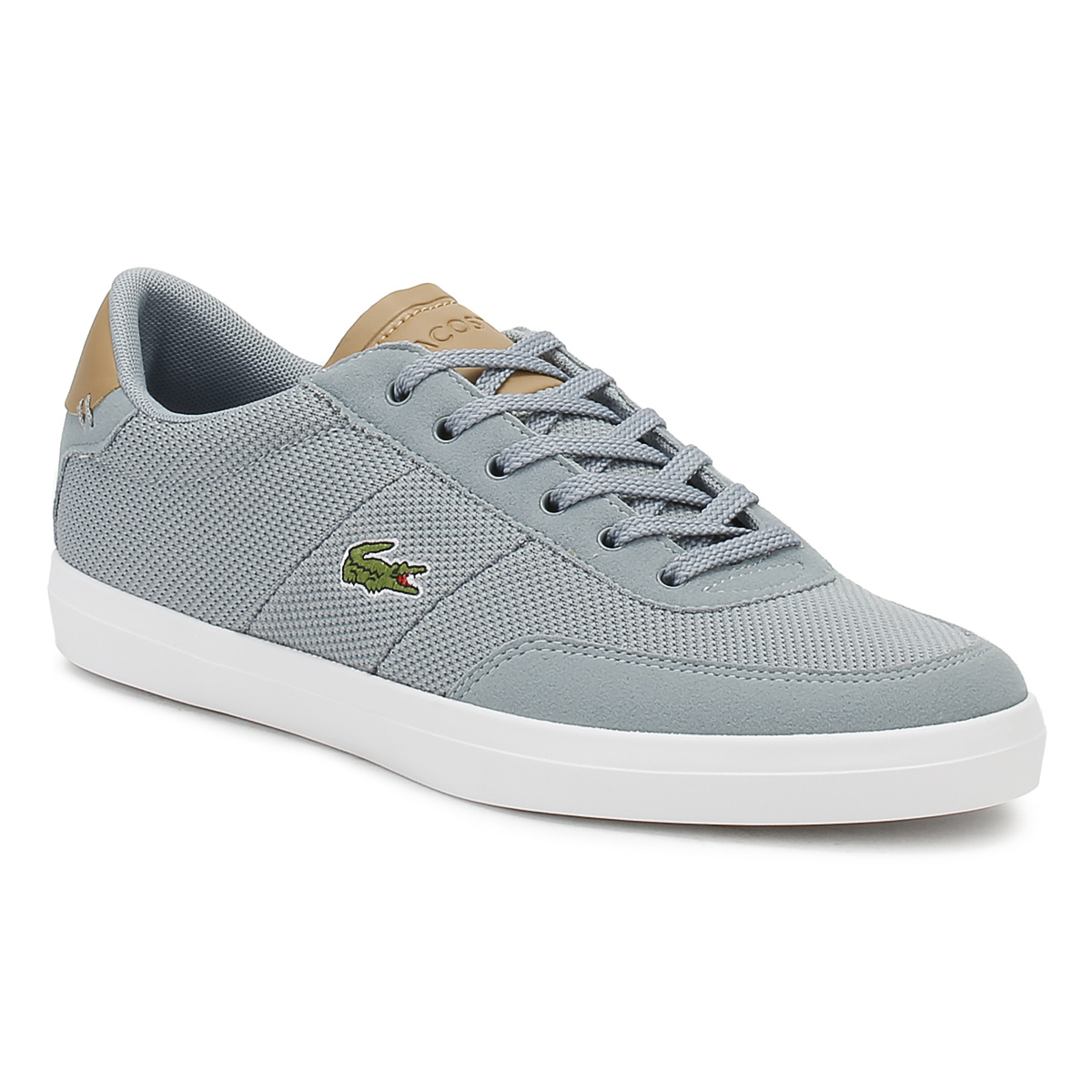 Lacoste Hombre Trainers Gris & Light Tan Court Master 118 118 118 1 Lace Up Casual Zapatos 6bb960