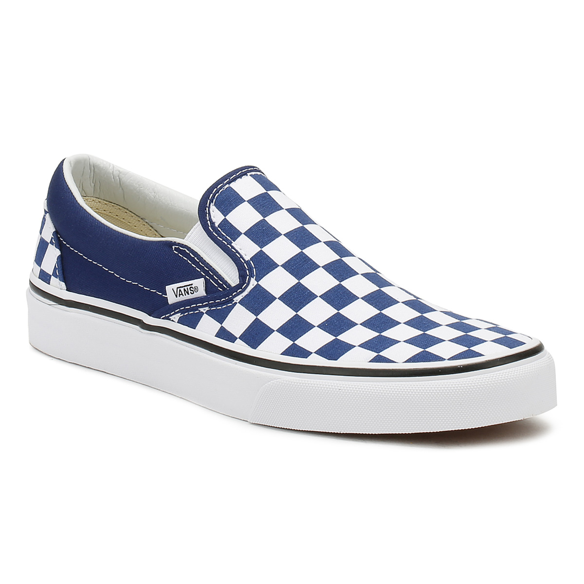 Vans Mens Slip On Trainers Estate Shoes Blue Checkerboard Classic Casual Shoes Estate bdb0d8