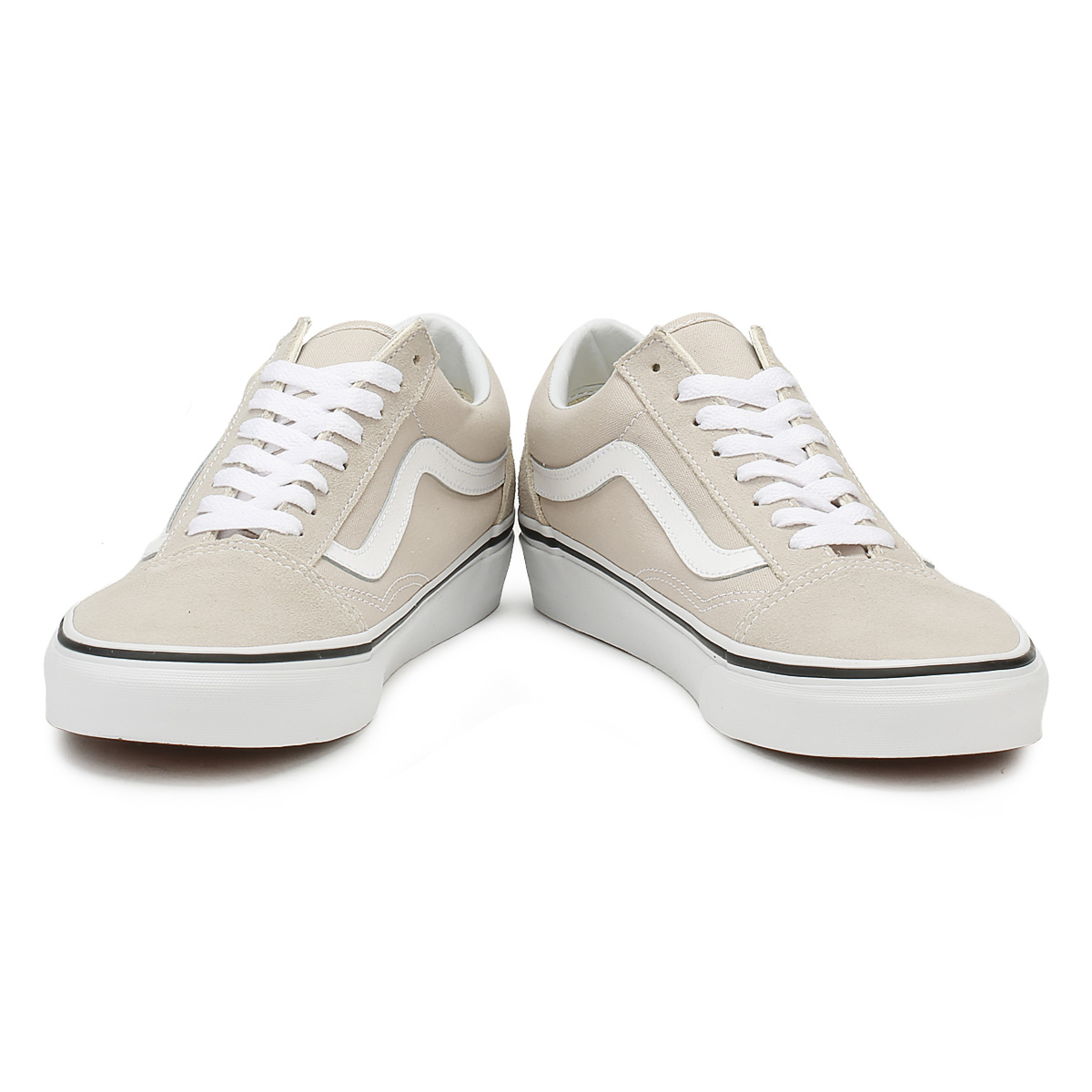 Vans Unisex Silver Lining & True White Old Skool Trainers Lace Up Skate Shoes