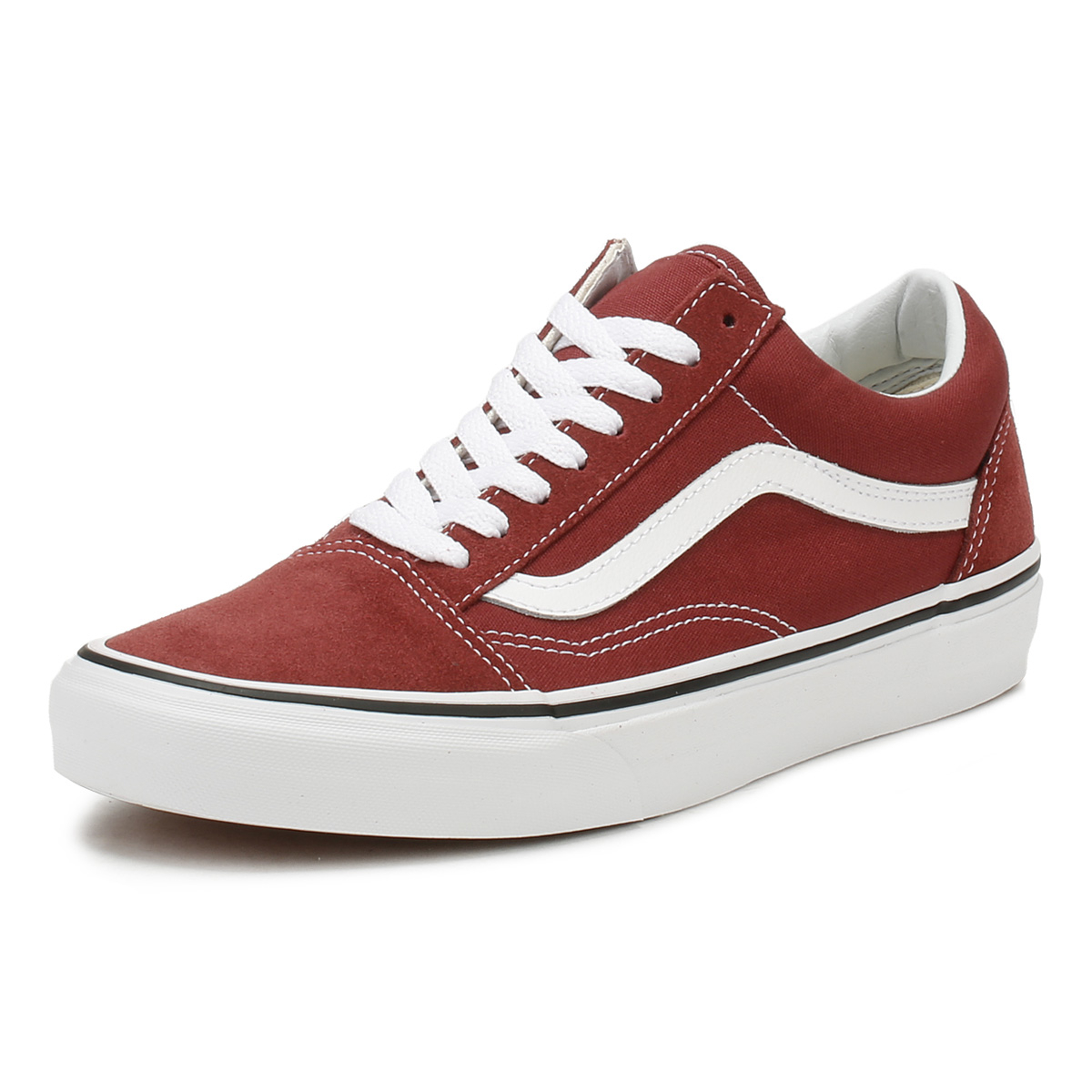8e88f0e15bb36 Vans Womens Apple Butter   True White Old Skool Trainers Lace Up Skate Shoes