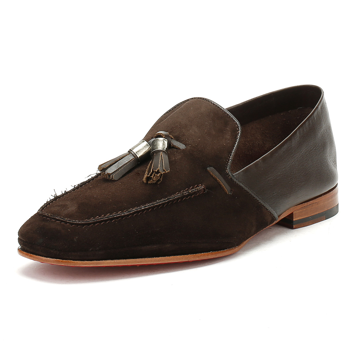 a475aed4d4c Details about Jeffery West Mens Mule Loafers Croste Bovino Dark Brown  Martini Moccasins Shoes