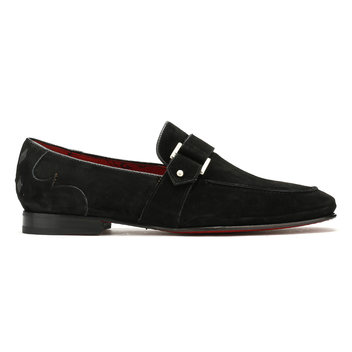 Jeffery West Mens Studded Loafers Croste Bovino schwarz Martini Moccasins Schuhes