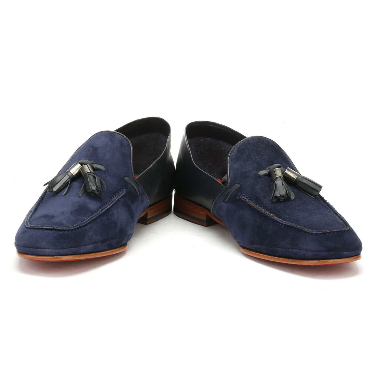 Jeffery West   Herren Mule Bovino Loafers Croste Bovino Mule Dark Blau Martini Moccasins Schuhes 0806e6