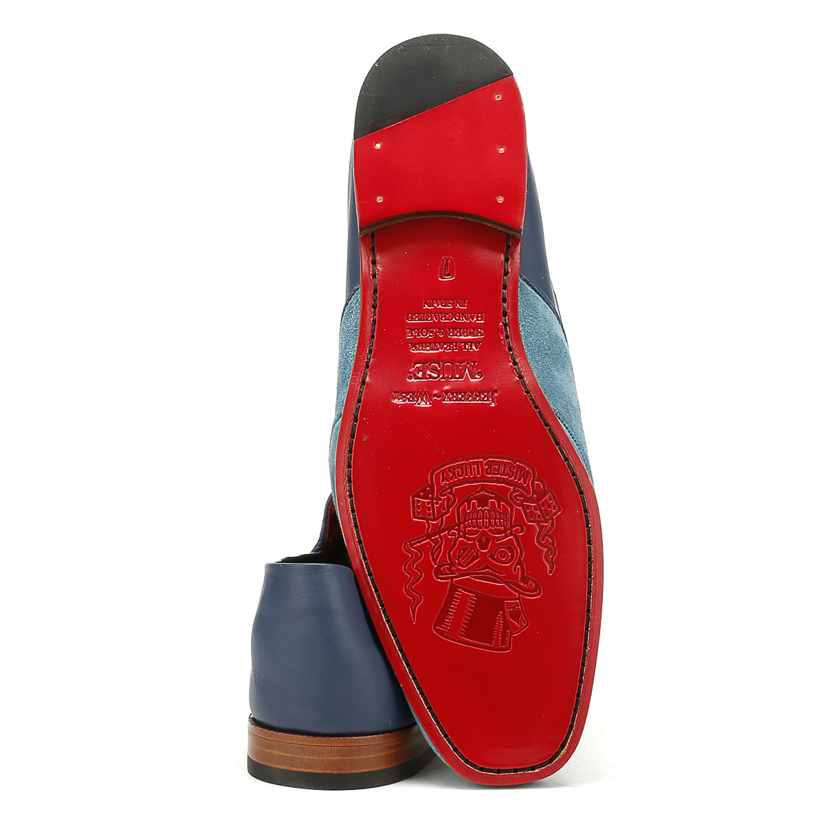 Jeffery West Mule  Uomo Loafers Croste Croste Croste Bovino Seta Blau Martini Moccasins Schuhes 970a7e