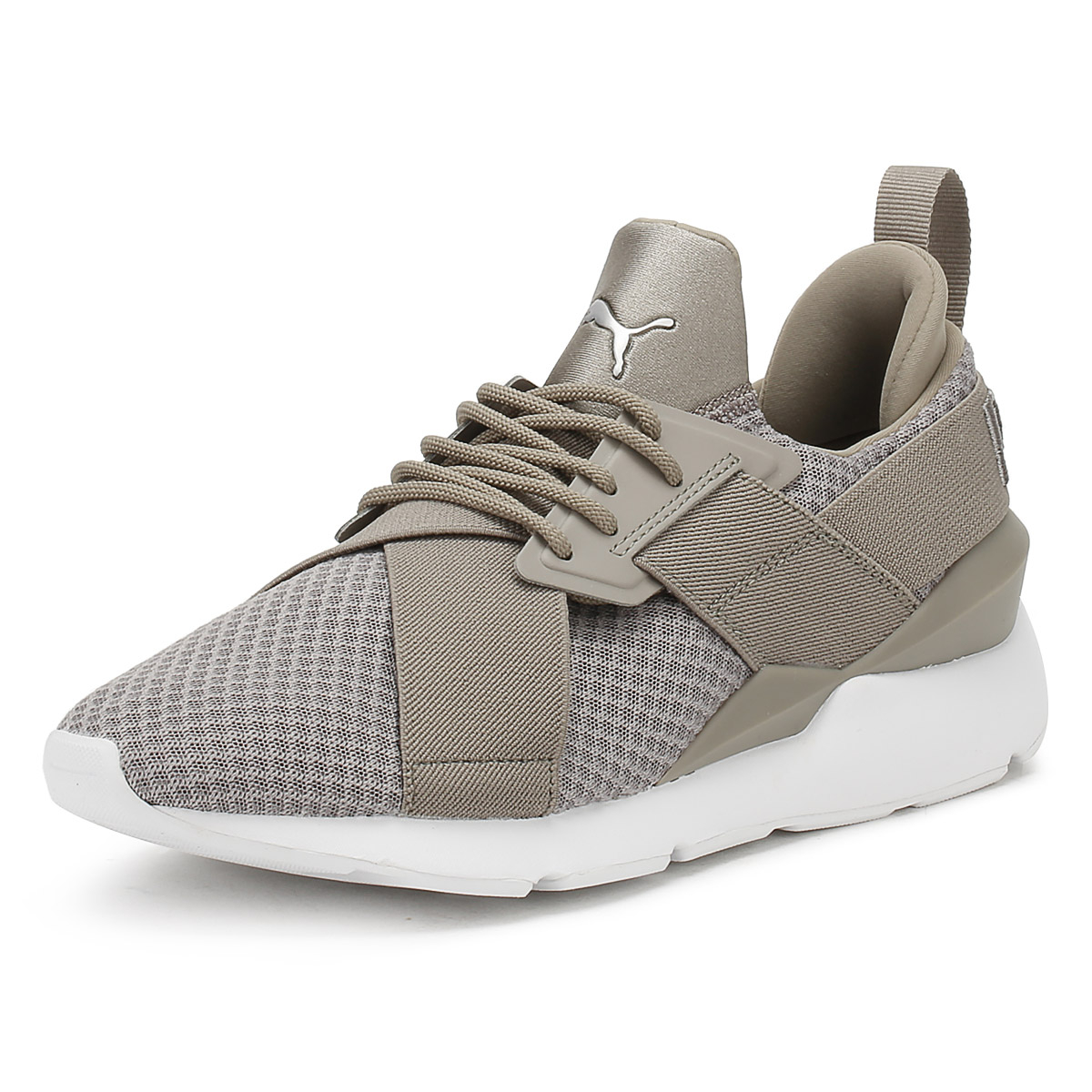 16acd125fe3504 Details about PUMA Womens Rock Grey Muse X-Strap EP Trainers Lace Up Sport  Casual Shoes