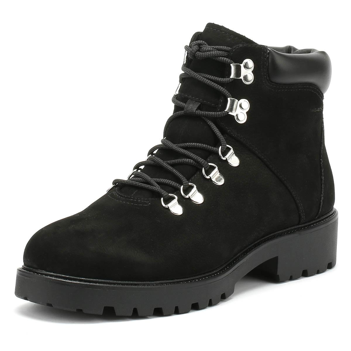 Vagabond Mujeres Cuero Nobuck Negro Kenova botas De Invierno Zapatos Con Cordones