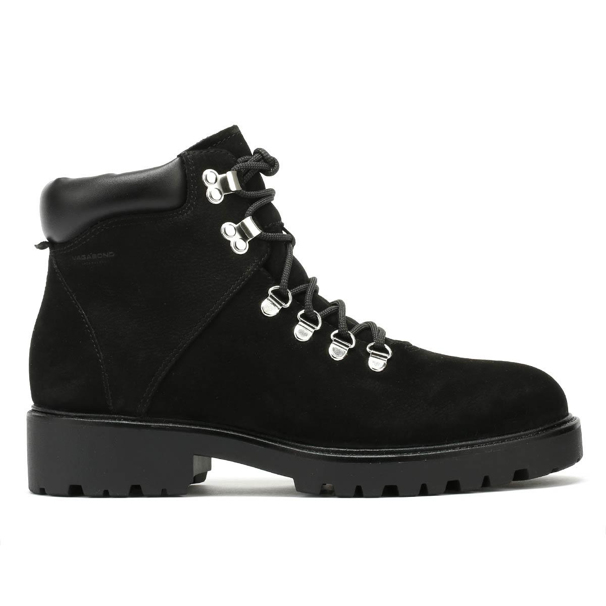 Vagabond Mujeres Cuero Nobuck Negro Kenova Botas De De Botas Invierno Zapatos Con Cordones 2eaa01