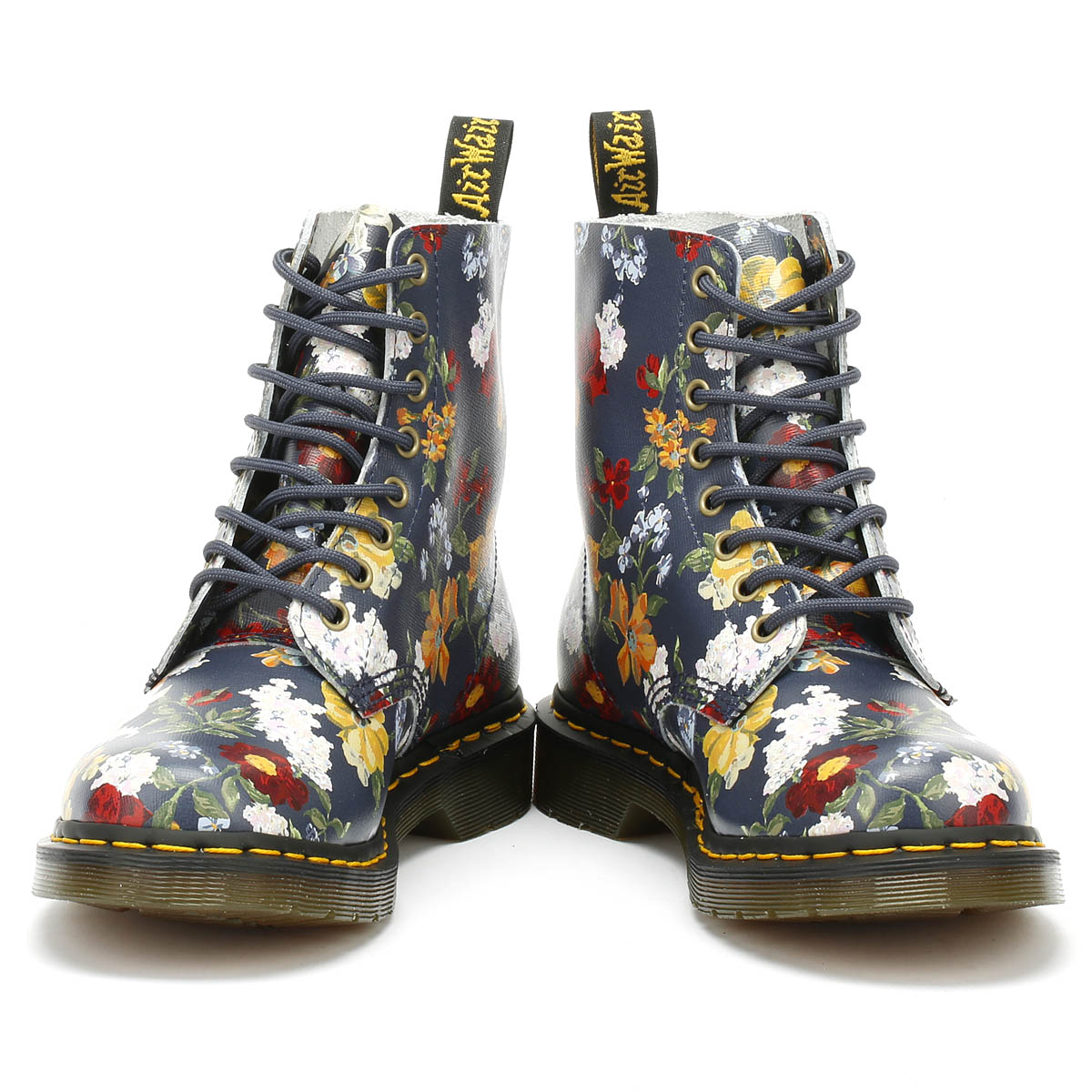 3319818880 Dr. Martens 1460 Pascal Womens Darcy Floral Navy Boots Lace Up Ankle Shoes