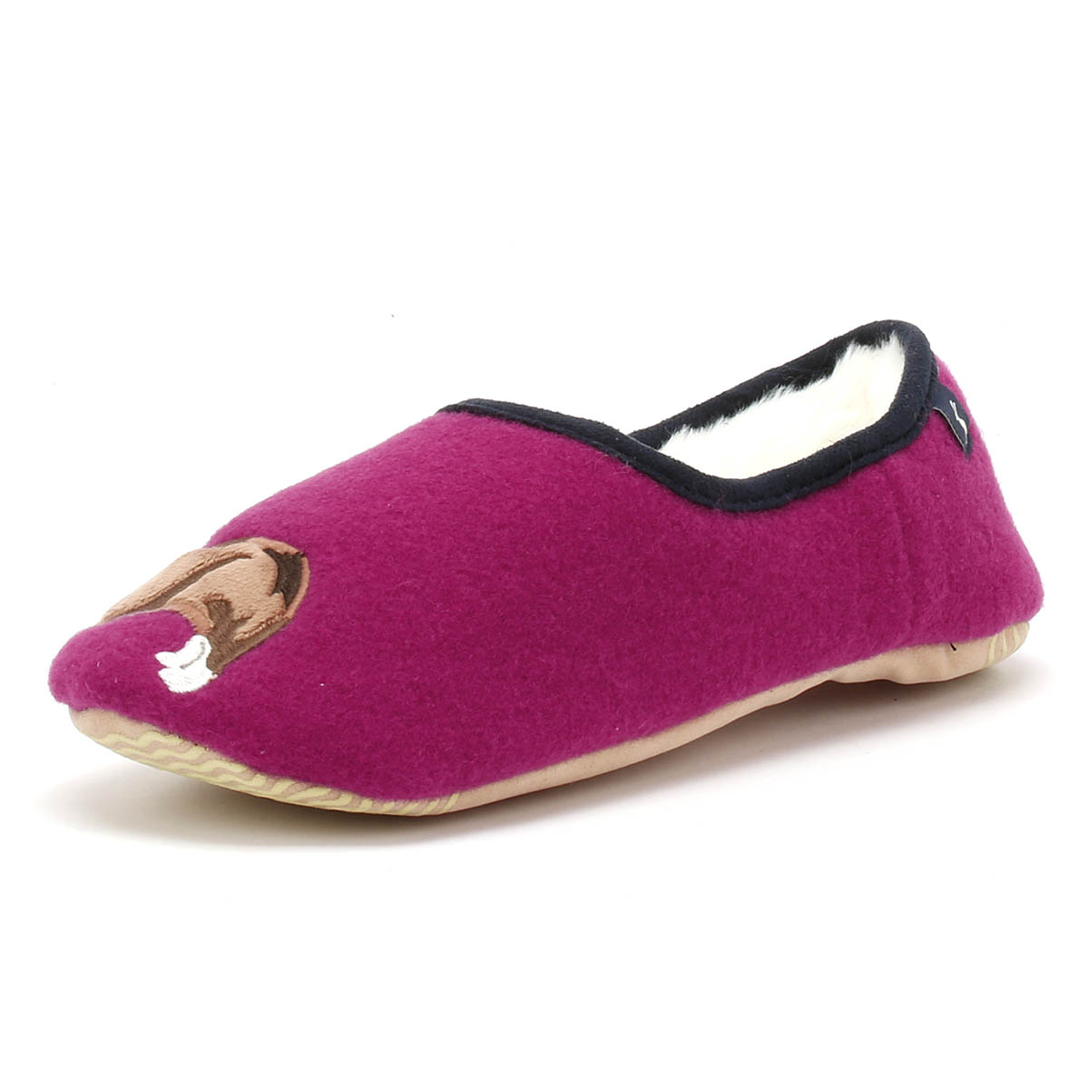 Joules Da Donna Slippets Rosa Cane Pantofole Casa Mocassini Scarpe Ballerina-mostra Il Titolo Originale