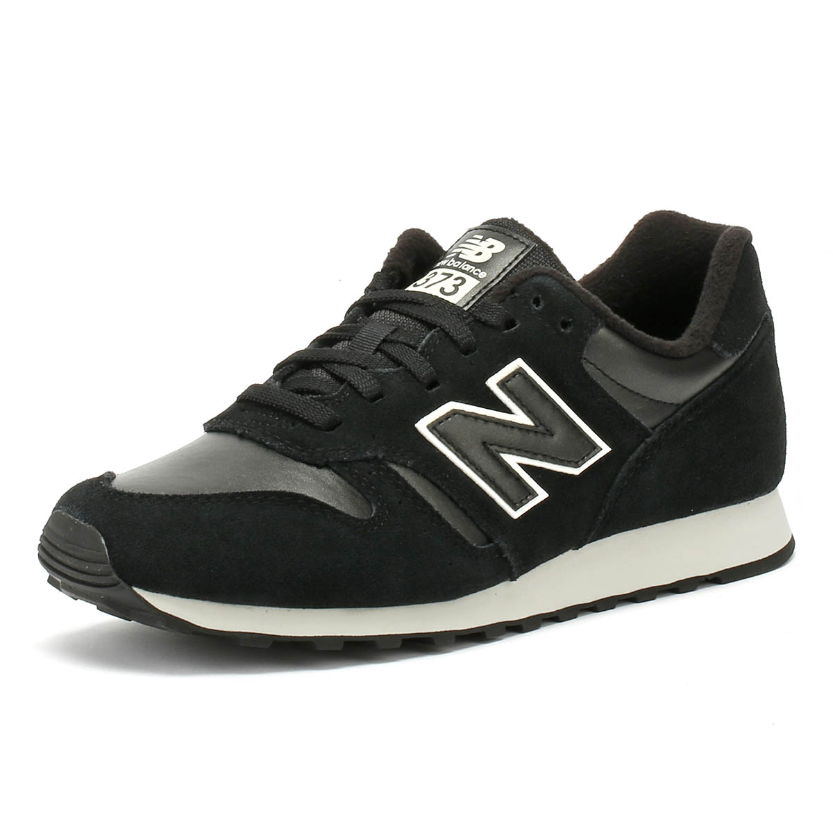 e0191e13cb967 Details about New Balance Womens Trainers 373 Black Classic Lace Up Casual  Running Shoes