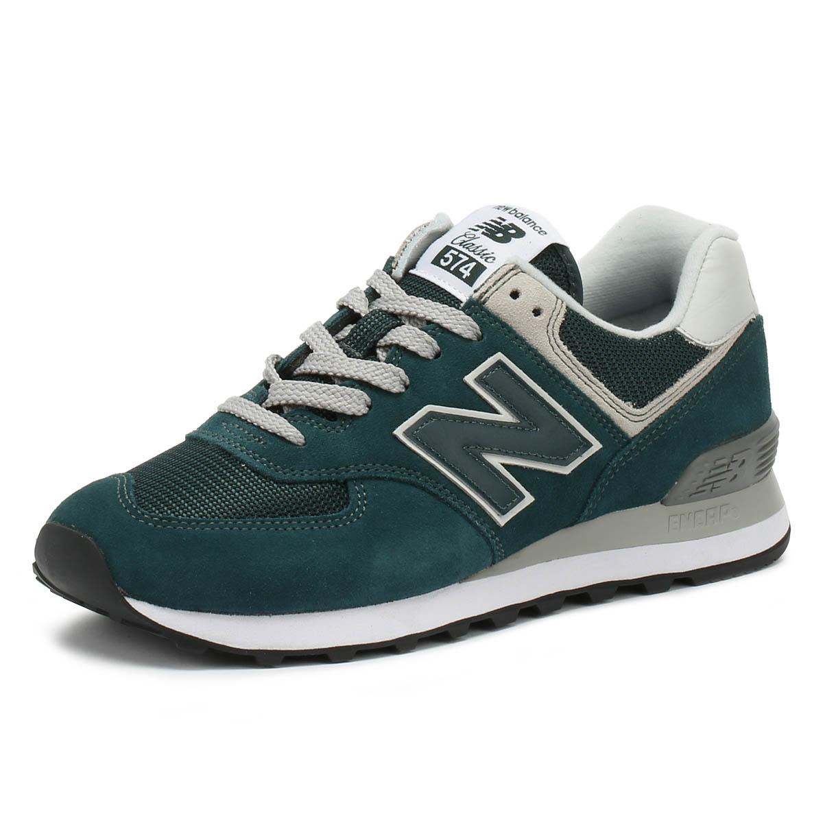 New Balance Mens Trainers 574 Green Classic Lace Up Sport Running ... 65ea694de45