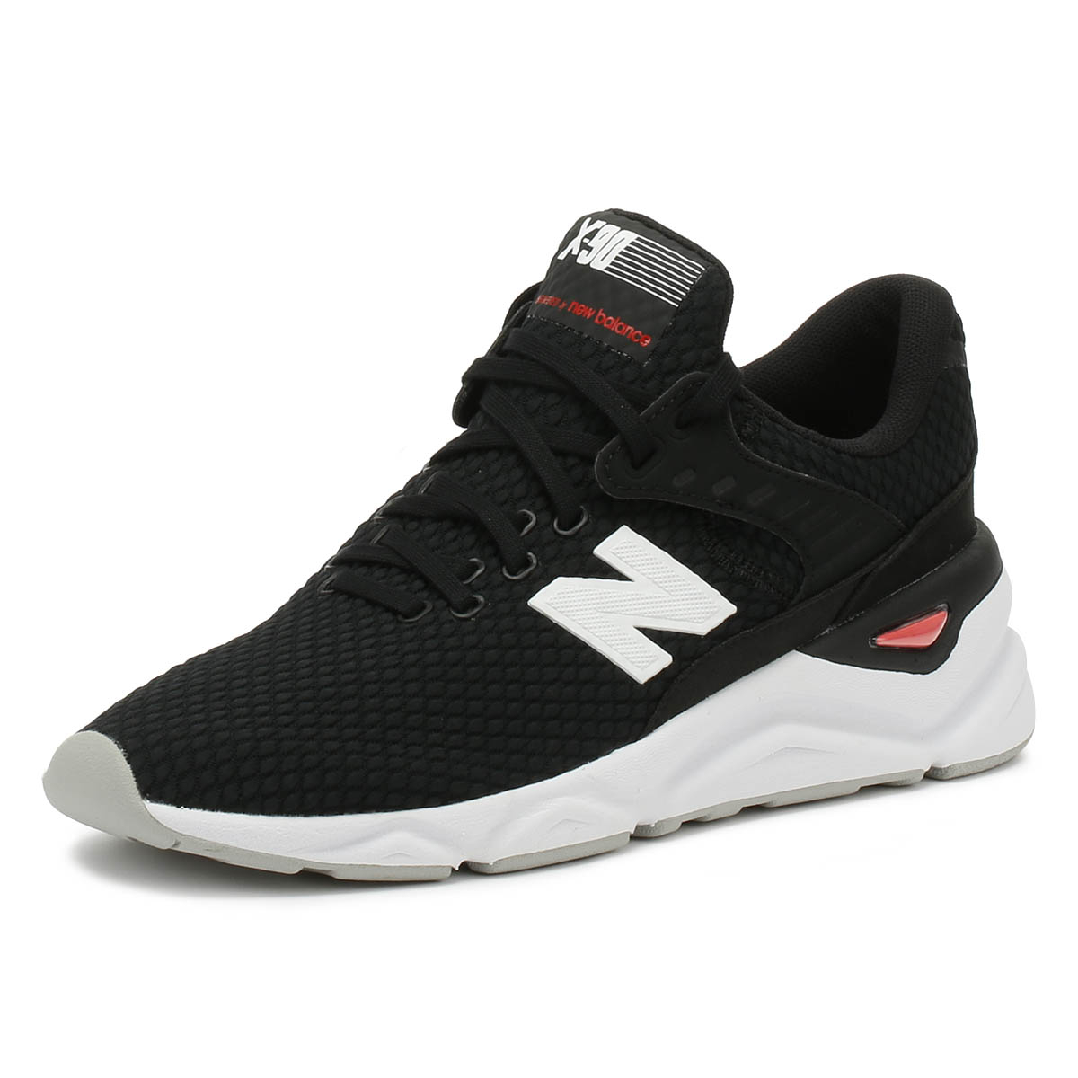 60b7234647bef Details about New Balance Mens Trainers X90 Black / White Casual Lace Up  Sport Running Shoes