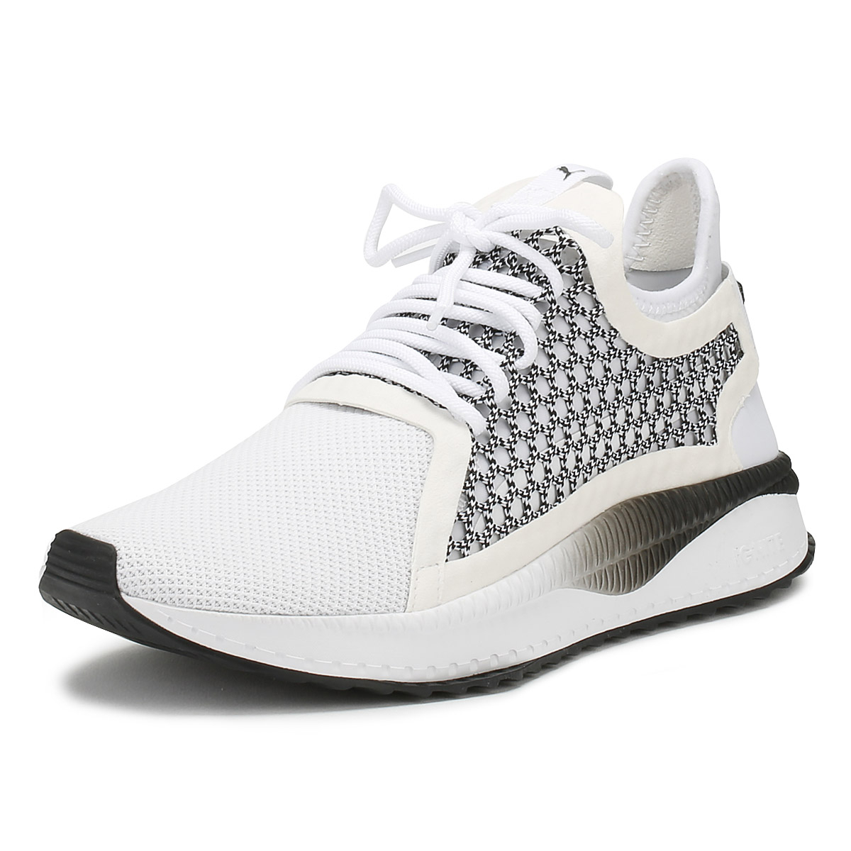 ed80afb9c9e8 Details about PUMA Mens Trainers White   Black Tsugi Netfit v2 Lace Up  Sport Running Shoes