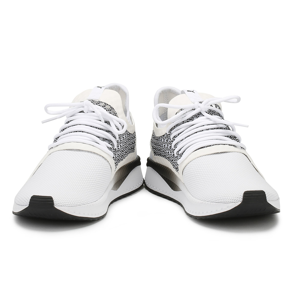 PUMA Mens Trainers Netfit White & Black Tsugi Netfit Trainers v2 Lace Up Sport Running Shoes bea83c