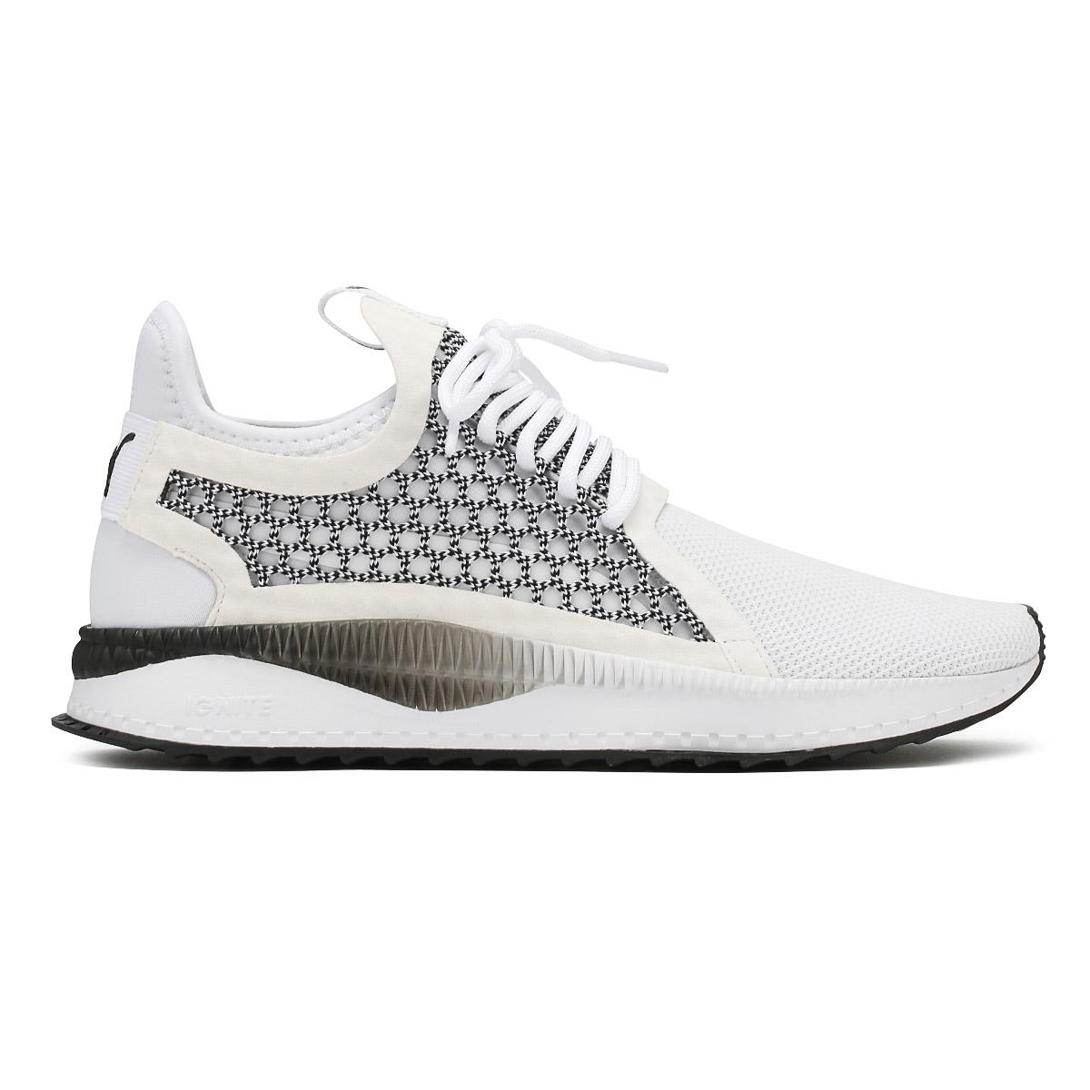 0bbb6b53e38d PUMA Mens Trainers White   Black Tsugi Netfit v2 Lace Up Sport Running Shoes